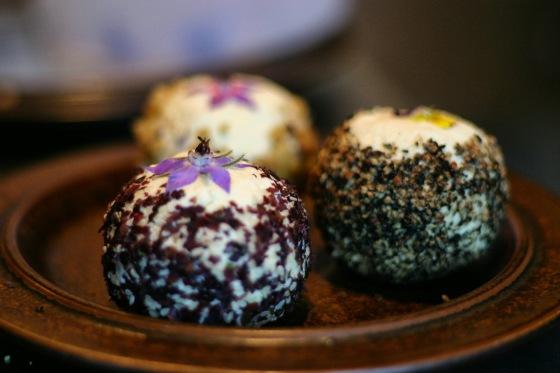 Sesame Dulse, Honey Lavender Walnut, and Cracked Pepper Boules